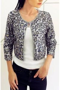 Sequin Leopard švarkelis
