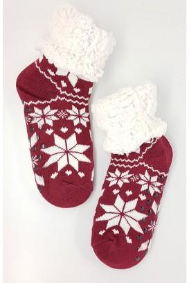 Snowflake kojinės-tapkės (ABS)