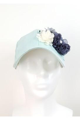 Suede baseball kepurė su gėlėmis