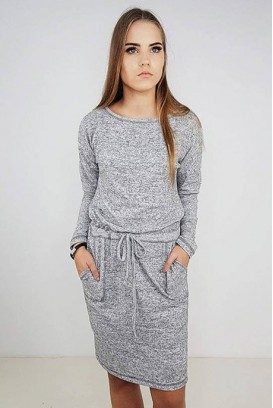 Marl Knit midi suknelė