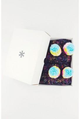 Multi Knit Pom pirštinės (su dėžute)