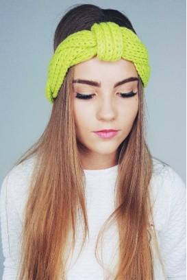 Soft knit galvos turbanas