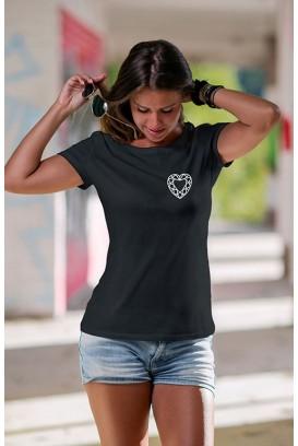 Mot. marškinėliai Heart